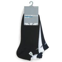 Dodatki Męskie Skarpety Emporio Armani CC134-300008-00997 Biały / Czarny / Marine