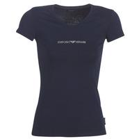 tekstylia Damskie T-shirty z krótkim rękawem Emporio Armani CC317-163321-00135 Marine
