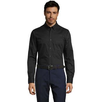 tekstylia Męskie Koszule z długim rękawem Sols BUSSINES MODERN MEN Negro
