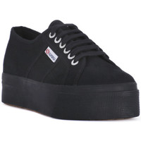 Buty Damskie Trampki niskie Superga COTU FULL BLACK UP AND DOWN Nero