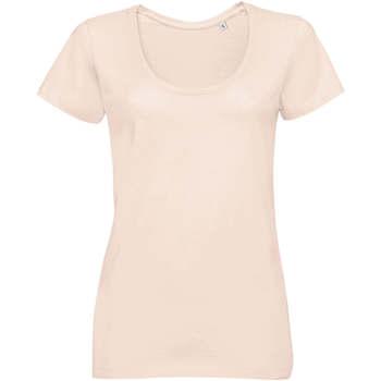 tekstylia Damskie T-shirty z krótkim rękawem Sols METROPOLITAN CITY GIRL Rosa