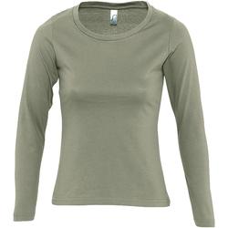 tekstylia Damskie T-shirty z długim rękawem Sols MAJESTIC COLORS GIRL Verde