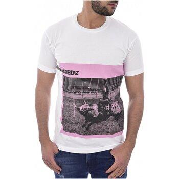 tekstylia Męskie T-shirty z krótkim rękawem Dsquared S71GD0713 Biały