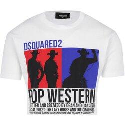 tekstylia Męskie T-shirty z krótkim rękawem Dsquared S71GD0720 Biały
