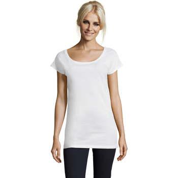 tekstylia Damskie T-shirty z krótkim rękawem Sols MARYLIN STYLE KIMONO Blanco