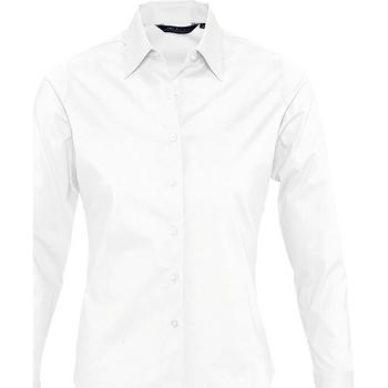 tekstylia Damskie Koszule Sols EDEN ELEGANCE Blanco