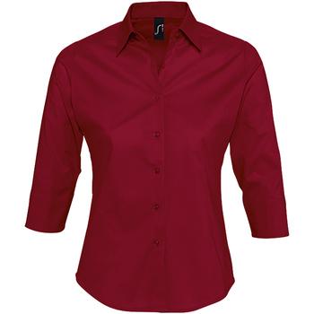 tekstylia Damskie Koszule Sols EFFECT ELEGANT Rojo
