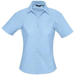 tekstylia Damskie Koszule Sols ELITE OXFORD Azul