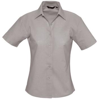 tekstylia Damskie Koszule Sols ELITE OXFORD Plata