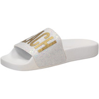 Buty Damskie klapki The White Brand GLITTER BEACH PLEASE white-bianco