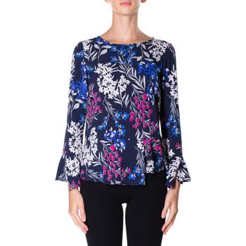 tekstylia Damskie Koszule Luckylu BLUSA STMPA CON PENN 0405-navy