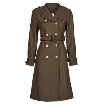 tekstylia Damskie Płaszcze Betty London LIPIUS Brązowy