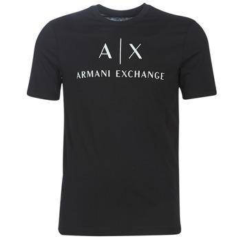 tekstylia Męskie T-shirty z krótkim rękawem Armani Exchange 8NZTCJ-Z8H4Z-1200 Czarny