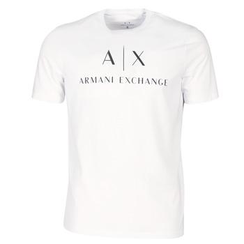 tekstylia Męskie T-shirty z krótkim rękawem Armani Exchange 8NZTCJ-Z8H4Z-1100 Biały