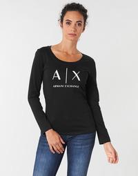 tekstylia Damskie T-shirty z długim rękawem Armani Exchange 8NYTDG-YJ16Z-1200 Czarny
