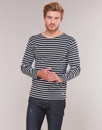 tekstylia Męskie T-shirty z długim rękawem Armor Lux VERMO Marine / Biały