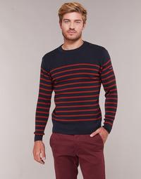 tekstylia Męskie Swetry Armor Lux LEOPOLD Marine / Czerwony