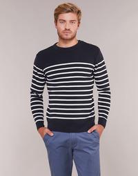 tekstylia Męskie Swetry Armor Lux MARIO Marine / Biały