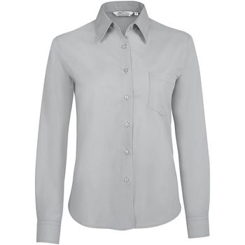tekstylia Damskie Koszule Sols EXECUTIVE POPELIN WORK Gris