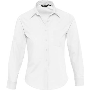tekstylia Damskie Koszule Sols EXECUTIVE POPELIN WORK Blanco