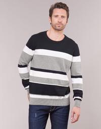 tekstylia Męskie Swetry Casual Attitude LORISS Czarny / Szary