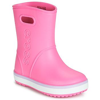 Buty Dziewczynka Kalosze Crocs CROCBAND RAIN BOOT K Różowy