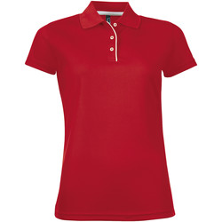 tekstylia Damskie Koszulki polo z krótkim rękawem Sols PERFORMER SPORT WOMEN Rojo