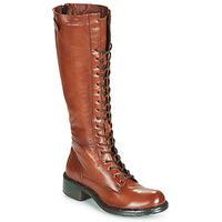 Buty Damskie Kozaki Dream in Green WADDAH Cognac