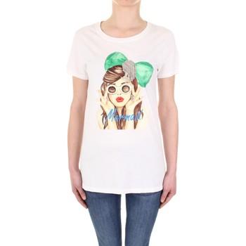 tekstylia Damskie T-shirty z krótkim rękawem Vicolo RU0081 Beżowy