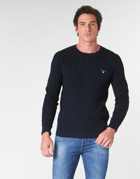 tekstylia Męskie Swetry Gant COTTON CABLE CREW Marine
