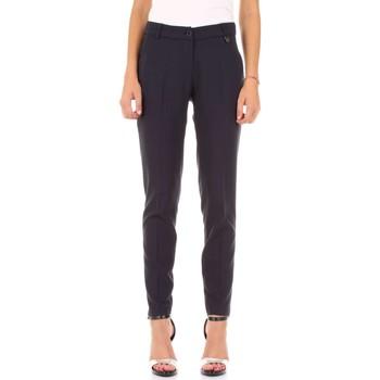 tekstylia Damskie Spodnie z lejącej tkaniny / Alladynki Fly Girl 30023-07 Niebieski