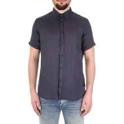 tekstylia Męskie Koszule z krótkim rękawem Fred Mello FM19S27CU Niebieski