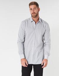 tekstylia Męskie Koszule z długim rękawem HUGO ELISHA02 Szary