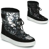 Buty Damskie Śniegowce Moon Boot MOON BOOT PULSE MID DISCO Czarny / Pailleté