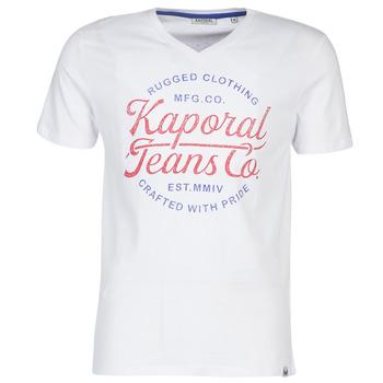 tekstylia Męskie T-shirty z krótkim rękawem Kaporal OBUCE Biały
