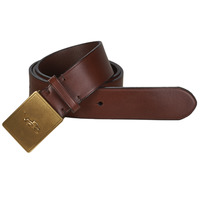 Dodatki Męskie Paski Polo Ralph Lauren PP PLAQUE-CASUAL-MEDIUM Brązowy