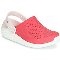 Buty Dziewczynka Chodaki Crocs LITERIDE CLOG K Czerwony / Biały