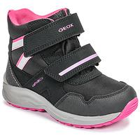 Buty Dziewczynka Śniegowce Geox J KURAY GIRL B ABX Czarny / Różowy