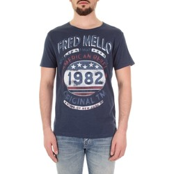 tekstylia Męskie T-shirty z krótkim rękawem Fred Mello FM19S09TG Niebieski