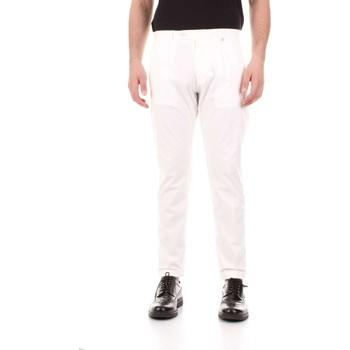 tekstylia Męskie Spodnie z pięcioma kieszeniami Bicolore F2576-ZINCO Biały