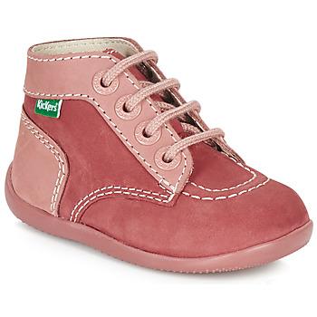 Buty Dziewczynka Buty za kostkę Kickers BONBON Różowy