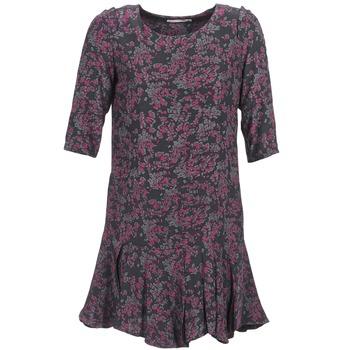 tekstylia Damskie Sukienki krótkie See U Soon BOETICO Czarny / Fioletowy