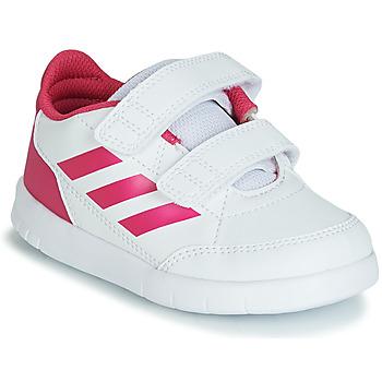 Buty Dziewczynka Trampki niskie adidas Performance ALTASPORT CF I Biały / Różowy