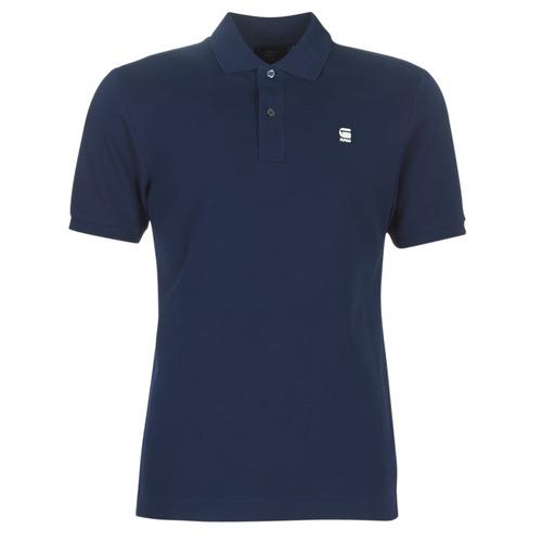tekstylia Męskie Koszulki polo z krótkim rękawem G-Star Raw DUNDA SLIM POLO Niebieski