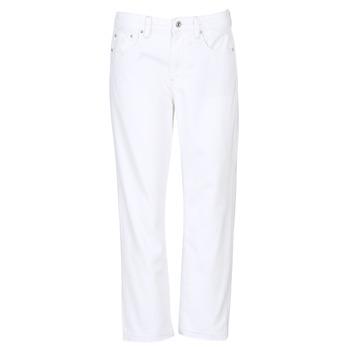 tekstylia Damskie Jeansy boyfriend G-Star Raw 3301 MID BOYFRIEND 7/8 Biały