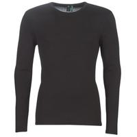 tekstylia Męskie T-shirty z długim rękawem G-Star Raw BASE TEE Czarny