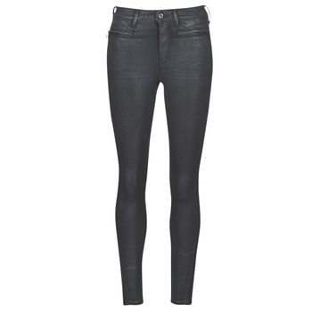 tekstylia Damskie Jeansy skinny G-Star Raw ASHTIX ZIP HIGH SUPER SKINNY ANKLE WMN Czarny