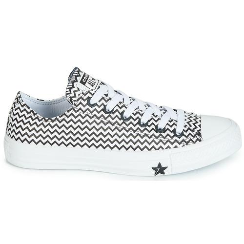 Converse CHUCK TAYLOR ALL STAR VLTG LEATHER OX Biały / Czarny - Bezpłatna dostawa |  - Buty Trampki niskie Damskie 29520 zł.
