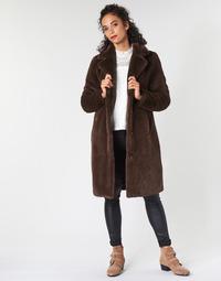 tekstylia Damskie Płaszcze Oakwood CYBER Brązowy