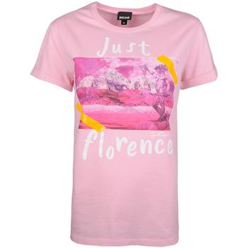 tekstylia Damskie T-shirty z krótkim rękawem Roberto Cavalli S02GC0343 Różowy